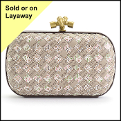 "Bottega Veneta ""When Your Initials Are Enough"" Words Knot Clutch"