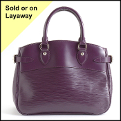 Louis Vuitton Cassis Purple Epi Leather Passy PM Bag