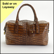 Bottega Veneta 2007 Brown Crocodile Satchel