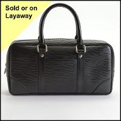 Louis Vuitton 2005 Black Epi Leather Vivienne Satchel