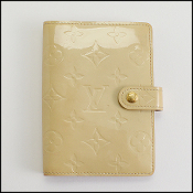 Louis Vuitton Beige Vernis Monogram 6 Ring Agenda Cover