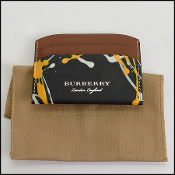 Burberry Black/Yellow/White Double-Sided Card Holder Wallet
