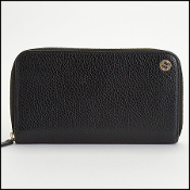 Gucci Black Leather Zip Around Wallet