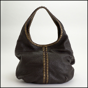Bottega Veneta Dark Brown/Gold Double Hobo Bag