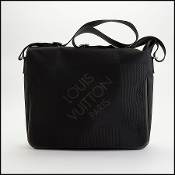Louis Vuitton 2005 Black Damier Geant Laptop Messenger Bag