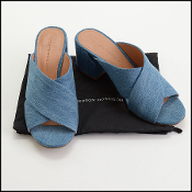 Size 8.5 Sigerson Morrison Denim Rhoda Slide Sandals
