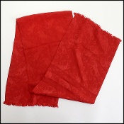 Ralph Lauren Vintage Red Silk Long Scarf