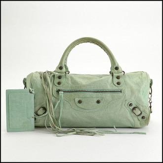 Balenciaga Vert d'Eau Green Chevre Leather Twiggy Bag