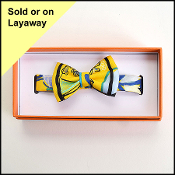 Hermes Yellow Modernisme Tropical Silk Bow Tie