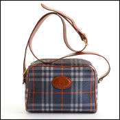 Burberry Vintage Navy Nova Check Coated Canvas Shoulder Bag