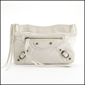 Balenciaga '06 Blanc Chevre Leather Makeup Clutch