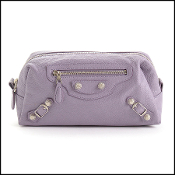 Balenciaga '12 Glycine Lilac Silver Giant Pencil Case