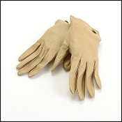 Chanel Beige Vintage Leather Gloves