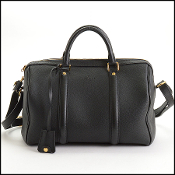 Louis Vuitton Black Leather Sophia Coppola SC PM Satchel