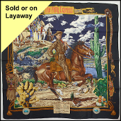 Hermes Multicolor Pony Express Silk Scarf by Kermit Oliver