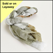 Faliero Sarti Sage Green/Grey/Ivory Long Scarf