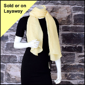 Fendi Yellow Jacquard Zucca Silk Stole Long Scarf