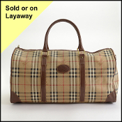 Burberry Nova Check Boston Weekender Bag