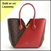 Louis Vuitton LV Monogram/Red Leather Kimono Tote