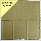 Louis Vuitton LV Monogram Khaki Green Silk/Wool Shawl