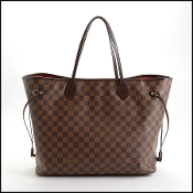 Louis Vuitton 2014 Damier Ebene Neverfull GM Tote Bag