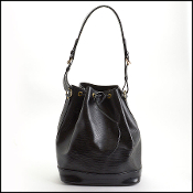 Louis Vuitton 2002 Black Epi Leather Noe Bag
