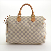 Louis Vuitton Damier Azur Speedy 30 Handbag