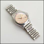 Gucci Stainless Steel Pink Dial Watch