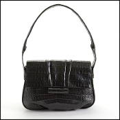 Nancy Gonzalez Black Crocodile Shoulder Bag