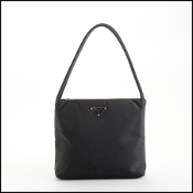 Prada Black Nylon Small Tote Bag