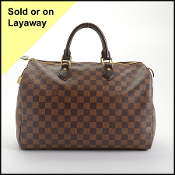 Louis Vuitton Damier Ebene Speedy 35 Bag