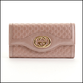 Gucci Pink Micro Guccissima Leather Sukey Flap Wallet