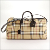 Burberry Nova Check Weekender Duffel Travel Bag