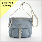 Prada Periwinkle Blue Vela Nylon Small Crossbody Bag