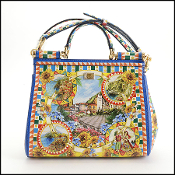 Dolce & Gabbana Printed Small Dauphine Sicily Satchel