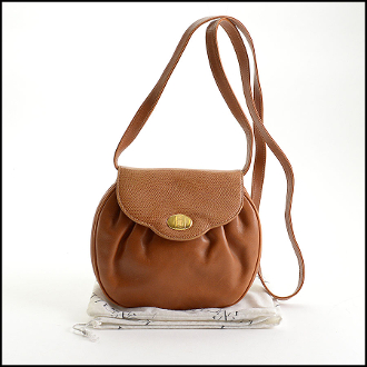 Mark Cross Vintage Tan Leather Crossbody Bag