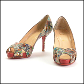 Christian Louboutin Multicolor Python Carnaval Heels (Size 39)