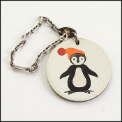 Hermes Penguin Leather Purse Charm