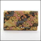 Japanese Multicolor Print Paper Clutch