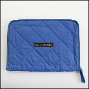 Sonia Rykiel Blue Quilted Fabric Clutch