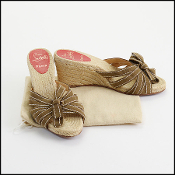 Christian Louboutin Olive Suede Bow Espadrilles Size 39