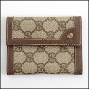 Gucci Vintage GG Coated Canvas Small Address Book