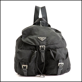 Prada Black Nylon Tessuto Backpack