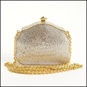 Judith Leiber Cabochon Jewels Crystal Minaudiere Box Bag