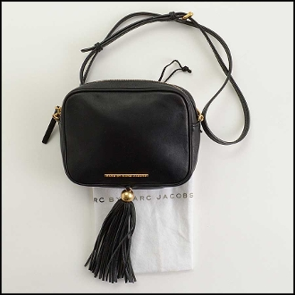 Marc by Marc Jacobs Black Leather Gig Hincy Crossbody Bag