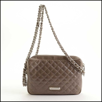 Rebecca Minkoff Taupe Quilted Leather Flirty Crossbody Bag
